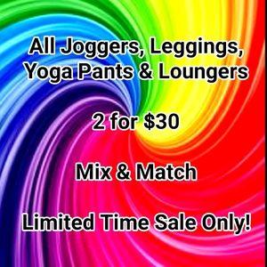 BOGO Joggers Leggings Yoga Pants Shorts 2 for $30